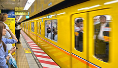 tokyo subway (poludziber1) Tags: street streetphotography summer subway city colorful cityscape color colorfull capital travel traffic tokyo japan yellow people urban train underground