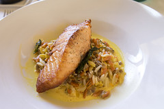 Pan Roasted Salmon (Bill in DC) Tags: nm newmexico santafe restaurants food 2017 lolivier