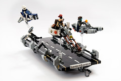 LSB BFD 18 - Greetings (Faber Mandragore) Tags: lego moc speeder speederbike contest district 18 district18 diorama dio scene chase lsb custom tiles faber mandragore fabermandragore