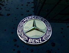 A wet Mercedes (mkk707) Tags: fujifilmfinepixf31fd pointshoot superccd rain car macro