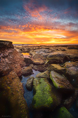 Hell fire (buiTchuong) Tags: sunset lajolla seascape sandiego californialandscape rocks ocean southerncalifornia