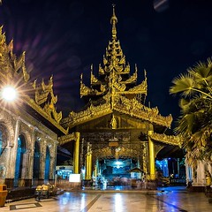 Hey Myanmar! The moon shines over you tonight! . . . #travel #moon #pagoda #temple #nightphotography #longexposure #gold #fullmoon #moon #wat #architecture #building #design #culture (amsanpedro) Tags: ifttt instagram