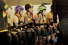 015 (Bawdy Czech) Tags: roller derby lava city dolls lcrd basin bombers wftda flat track skate bend or oregon april 2018 lavacity rollerderby klamath falls spit fires red gypsy yoko
