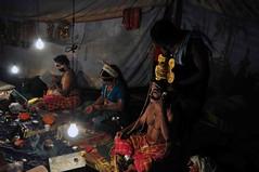 DSC_0036 (rajashekarhk) Tags: badaguthittinayakshagana peruvaje southkanara festival templefestival performingart preparing artists greenroom makeup rajashekar hkr nikon northkanaradistrict traditionalyakshgana tradition