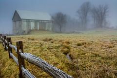 Frosty Morning (clare j kaczmarek) Tags: barns appalachia frost morning fog