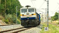 The Last Diesel Run - END OF AN ERA !!! (sriguru05) Tags: railfanning indianrailways locomotive trainspotting railroad train engine track panasonic lumix fz300 4k diesel wdp4d pune karnataka express kk king swr