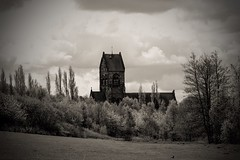 Countryside walks (jmiller35) Tags: merseyside liverpool landscape architecture nature blancoynegro monochrome blackandwhite trees parks parklife church oldbuildings canon