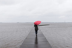 Hello May... :-( (CarolienCadoni..) Tags: sonyilcaa99m2 sony sal2470z 2470mmf28zassm red umbrella rain rainyday wind water backshot drenthe nederland netherlands f7d