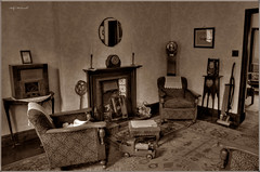 Back in the Day (Billy McDonald) Tags: hdr backintheday old sepia museum summerlee livingroom