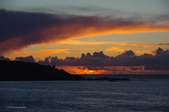 3KB02786a_C (Kernowfile) Tags: cornwall stives porthmeorbeach sea water waves sunset sky clouds cliffs pentax