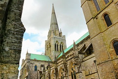 Chichester Cathedral (Roy Richard Llowarch) Tags: chichester chichestercathedral sussex westsussex cities city cathedrals cathedral gothic gothicarchitecture gothiccathedrals gothiccathedral gothicstyle normangothic normanengland normanarchitecture norman oldenglish oldengland architecture churches church churchofengland anglican anglonorman cofe religion religious medieval medievalarchitecture medievalengland medievalchurhes england english englishheritage englishhistory royllowarch royrichardllowarch greatbritain history historic historical historicbritain historicengland sky clouds spring sunshine sunny buildings worship godly beauty beautiful beautifulplaces serenity peaceful peace serene uk