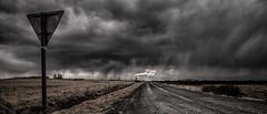 Downpour Over Efri Reykir (p.g604) Tags: downpour over efri reykir iceland road overcast rain signpost tarmac 355 geothermal energy 20180424imgp2372edit2 pentax k1 wideangle landscape atmospheric moody smoke steam layered