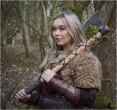 Bethany the Axe Maiden (Charles Connor) Tags: bethanycammack vikings models beautifulgirls girls beauty attractive vikingphotoshoot chorltonwaterpark peoplephotography peoplepictures canon6d canonef24105mmlens
