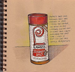 lawry's (tacoart) Tags: lawrys seasonedsalt salt spice flavor food sketch sketchbook watercolor penandink uniball spices jar stilllife coloredpencils