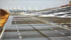 L'Oosterscheldekering (Barrage de l'Escaut oriental), Deltapark Neeltje Jans, Nederland (claude lina) Tags: claudelina nederland hollande paysbas zeeland zeelande oosterscheldekering barragedelescautoriental pont bridge barrage