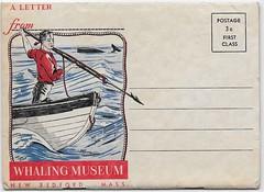 New Bedford Whaling Museum novelty postcard (Edlunddesign) Tags: ephemera graphicdesign print usa english paper offset art illustration branding whaling newbedford massachusetts museum newbedfordwhalingmuseum tourist tourism harpoon 1950s 1949 novelty souvenir postcard whale hunting