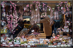 Window Shopping (Eddie C3) Tags: windows romeitaly roma storewindows campodefiori butcher centrostorico glass reflections storefronts