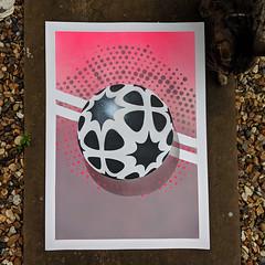 In the Land of Grey and Pink (id-iom) Tags: aerosolpaint art arts band brixton caravan cool england english geometric grey idiom landofgreyandpink london paint pink progressive rock shadow sphere spray spraypaint stencil uk urban