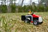 One man went to mow... (114/365) (robjvale) Tags: nikon d3200 adventurerjoe lego project365 mower grass yard garden outside outdoor machine