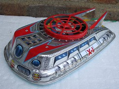 Vintage Made in Japan X1 Tinplate Toy Spaceship / Hovercraft (beetle2001cybergreen) Tags: vintage made japan x1 tinplate toy spaceship hovercraft