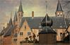 A l'extérieur de l'abbaye, Middelbourg, Walcheren, capitale de la province de Zélande, Nederland (claude lina) Tags: claudelina nederland paysbas hollande zeeland zélande middelbourg ville town architecture abbaye abdij abbey tours clochers tower