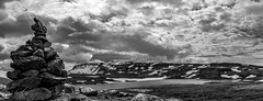 Anywhere Iceland (Luis GA) Tags: islandia airelibre iceland lugamor luisga blackwhite black negro white blanco sky clielo nube cloud panoramica panoramic piedra rock contrast contraste lake lago blancoynegro