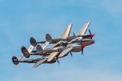 P-38 Lightnings (Rik Kirby) Tags: planesoffame planes fame p38 lightning aeroplane airplane airshow military