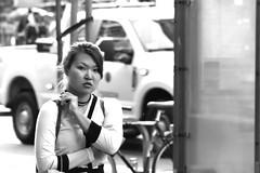 3-25 Market Candid 58 (TheseusPhoto) Tags: people street sanfrancisco sanfran candid blancoynegro blackandwhite monochrome city streetphotography woman