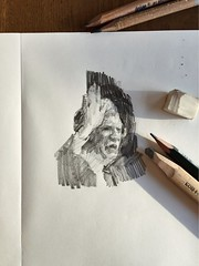 March 2018 (Sho Wakasugi) Tags: drawing portrait figurative art face head pencil kohinoor sketch