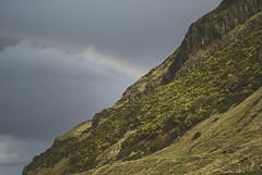 Rainbow over the Salisbury Crags - Edinburgh Scotland February '08 (Jonmikel & Kat-YSNP) Tags: edinburgh scotland uk march 2008 holyroodpark arthursseat salisburycrags rainbow