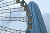 hong kong wheel (poludziber1) Tags: street streetphotography skyline summer sky city colorful cityscape color capital china travel urban architecture abstract asia blue building