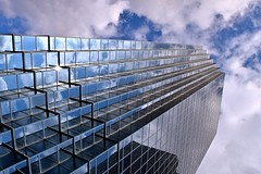 Zurich building schaumburg (Bo Dudas) Tags: architecture clouds sky blue window glass perspective