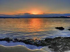 Sandy patterns IV (elphweb) Tags: beach water ocean sea bay estuary sand sandy sun sunset hdr highdynamicrange nsw australia seaside