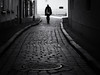 way home (Sandy...J) Tags: olympus oldtown monochrom fotografie noir atmosphere alone atmosphäre allein altstadt blackwhite bw black city cobblestones deutschland germany photography man mono mann walking white blur blurred street streetphotography sw schwarzweis strasenfotografie stadt silhouette shadow light urban walk strase stimmung mood monochrome