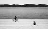 passing by (ThorstenKoch) Tags: street streetphotography schatten stadt strasse shadow schwarzweiss sun sonne outdoor ocean lissabon lisboa lisbon pov photography people photographer picture portugal place fuji fujifilm thorstenkoch monochrome blackwhite bnw