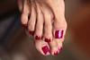 Alegra (IPMT) Tags: toenail sexy toes polish foot feet metallic fuchsia sparkling pedicure shimmer painted toenails pedi barefoot bright cherry red rojo vermelho glossy finish descalza pink rosado shimmering