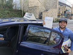 Massive congratulations to Kelvin Vidal passing his driving test on his first attempt!  Alumno y profesor Guaireño dando la talla en UK!   www.leosdrivingschool.com