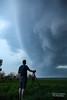 Fellow Stormchase Amazed by Shelfcloud (Calvin Musch) Tags: person shelf storm gemany sky cloud