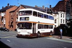 Finglands 1757 (AVK 177V) (SelmerOrSelnec) Tags: finglands leyland atlantean alexander avk177v manchester portlandstreet tyneandwearpte bus