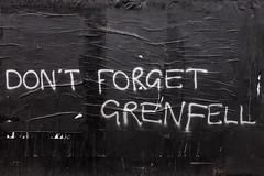 Don't forget Grenfell (Gary Kinsman) Tags: kentishtownroad kentishtown nw5 london 2018 fujix100t fujifilmx100t graffiti dontforgetgrenfell grenfell grenfelltowerfire