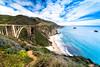 Pacific ocean scenic view and Bixby Creek Bridge (Slobodan Miskovic) Tags: highway1 california pacific ocean scenic roadtrip nikon nikkor 2470 nikon2470mmf28 cpl bw