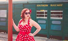 Miss Cherry Bourbon (_Emerald_Photography_) Tags: portrait pinup vintage train station scotland