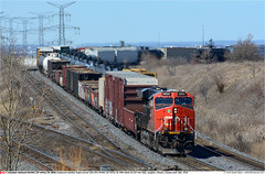 CN2850GB_VaughanON_180418 (Catcliffe Demon) Tags: cn canadiannational canada ontario railways railroading ge generalelectric gevo es44ac manifest canadarailimages2018