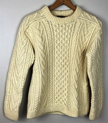 Irish aran fisherman wool sweater (Mytwist) Tags: aran sweater design fisherman grobstrick handknitted jumper knitted laine aranstyle style donegal fashion genser handknit jersey knit love wool exclusive retro timeless yarn unisex irish oats pullover authentic sweaters dublin fuzzy gift heavy jeans knitting killarney aranjumper aransweater heavyweight heritage vintage cabled bulky neck mytwist zealand classic viking navy modern unworn luckysparrow gaeltarra made in ireland mens ivory cable
