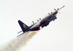 lockheed image (San Diego Air & Space Museum Archives) Tags: fatalbert blueanglesjato airshow jetassistedtakeoff jato rocketassistedtakeoff rato propellervortices propvortices vortices