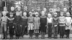 Class Photo (theirhistory) Tags: children boy kid school group form girl jumper trousers shoes teacher wellies rubberboots