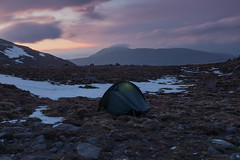 Night on a Bare Mountain (Andrew G Robertson) Tags: scotland torridon wild camp mountain meall garbh bidein ghlas thuill an teallach sunset dundonnell