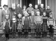 Class Photo (theirhistory) Tags: children kids boys school class form girls teacher jumper dress skirt wellies boots