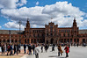 Seville (kendo1938) Tags: seville spain esp sevilla plazadeespana sky clouds people