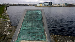 August September 1939 (mcginley2012) Tags: poem plaque galway ireland cameraphone pier city urban
